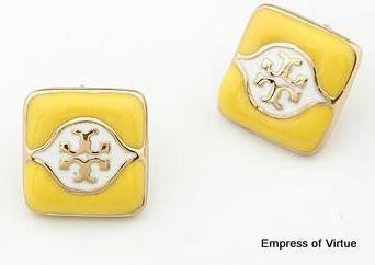 Square Stud Earrings - Empress of Virtue - 1