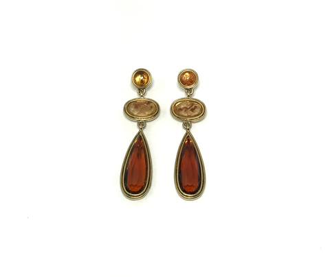 Cafe Latte Autumn Earrings