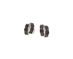 Purple Drizzle Post Earrings
