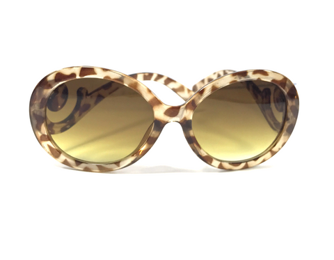 Empress of Virtue's Swirl 'e' Sunglasses -In Leopard Print
