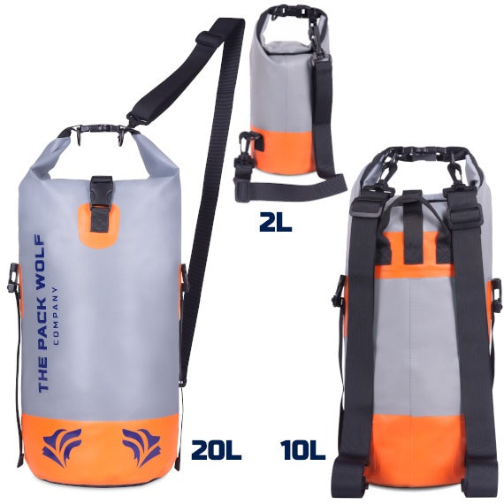 Adjustable straps for dry bags carry configurations