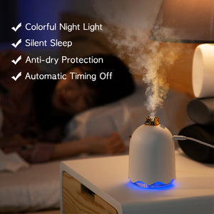 ANIMORE 250ML Ultrasonic Air Humidifier Aroma Essential Oil Diffuser for Home Car USB Fogger Mist Maker with LED Night Lamp