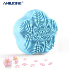 Load image into Gallery viewer, ANIMORE Silicone Face Cleansing Brush Rotating Magnetic Beads Deep Cleaning Face Spa Rechargeable Waterproof Facial Cleaner
