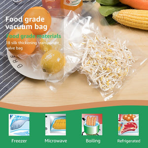 ANIMORE Household Vacuum Food Bag 20cm x 500cm 1 Roll for Kitchen Vacuum Plastic Storage Bags Food Fresh Long Keeping Saran Wrap