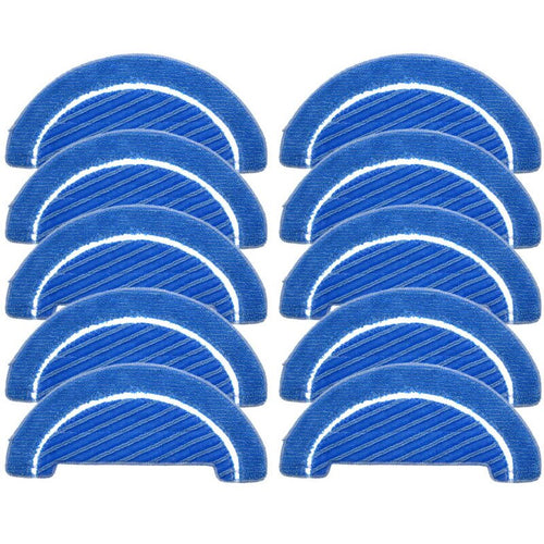 10Pcs Fabric Mop Inserts for Conga 1090 Series Robot Vacuum Cleaner Accessories Fabric Mop Insert Kit