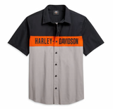 Harley Davidson Men's Colorblock Logo Shirt