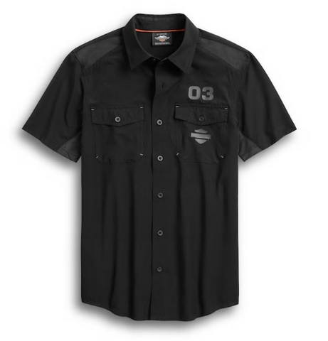 Harley Davidson Men's Performance Ripstop & Mesh Shirt