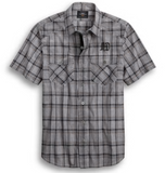 Harley Davidson Men's Yarn-Dyed Plaid Shirt