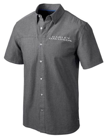 Harley-Davidson® Men's Performance Vented Textured Button Shirt