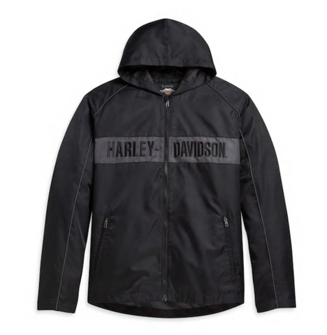 Harley Davidson Men's Hooded Stripe Jacket