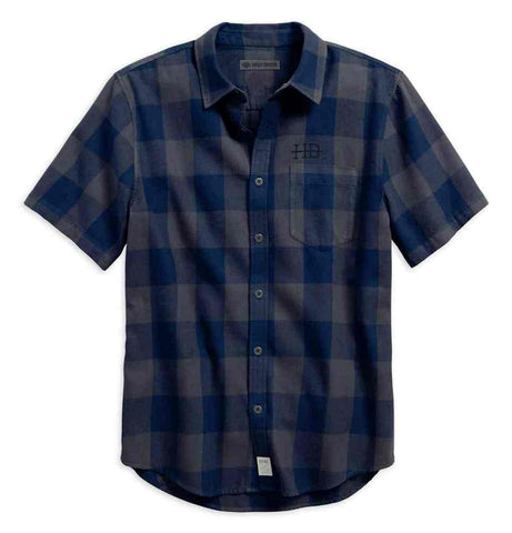 Harley-Davidson® Men's Buffalo Check Plaid Slim Fit Button Up Shirt