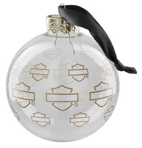 Harley-Davidson® Repeat Silhouette Bar & Shield Ball Ornament