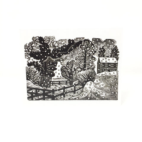 Eric Ravilious Christmas Cards - Considerable Falls of Snow, 5 card pack