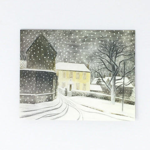 Eric Ravilious Christmas Cards - Halstead Road in the Snow, 5 card pack