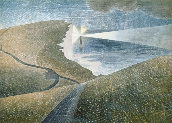 Limited Edition Giclee Print of Eric Ravilious' Beachy Head watercolour