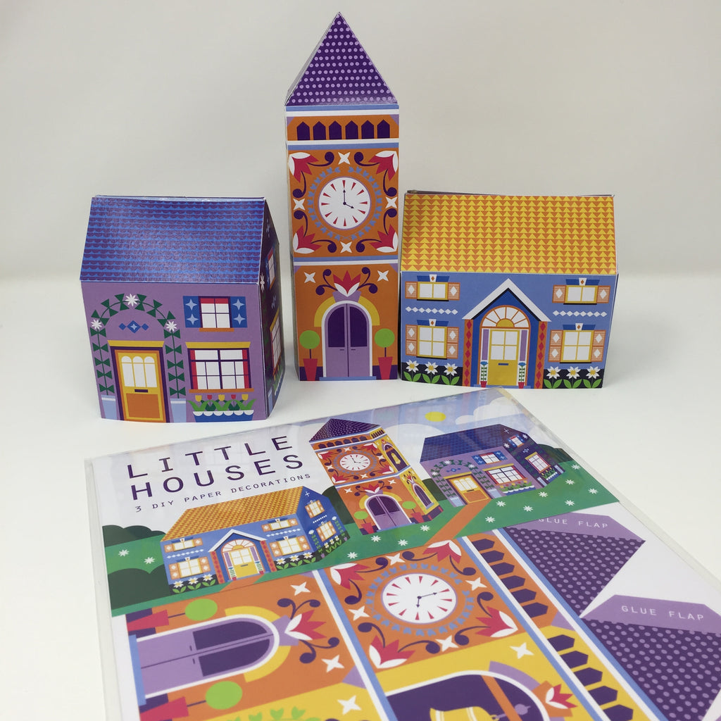 Little Houses DIY paper decorations pack by Printer Johnson