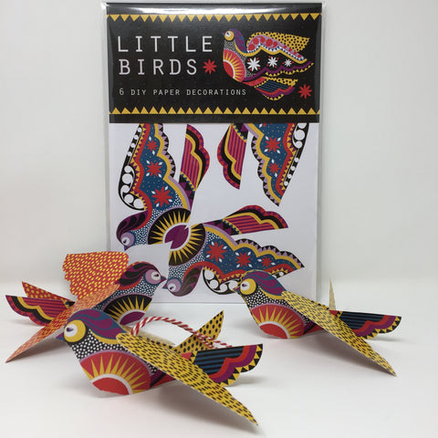 Little Birds DIY paper decorations pack by Printer Johnson