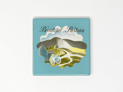 Eric Ravilious, Beautiful Britain - Ceramic Coaster