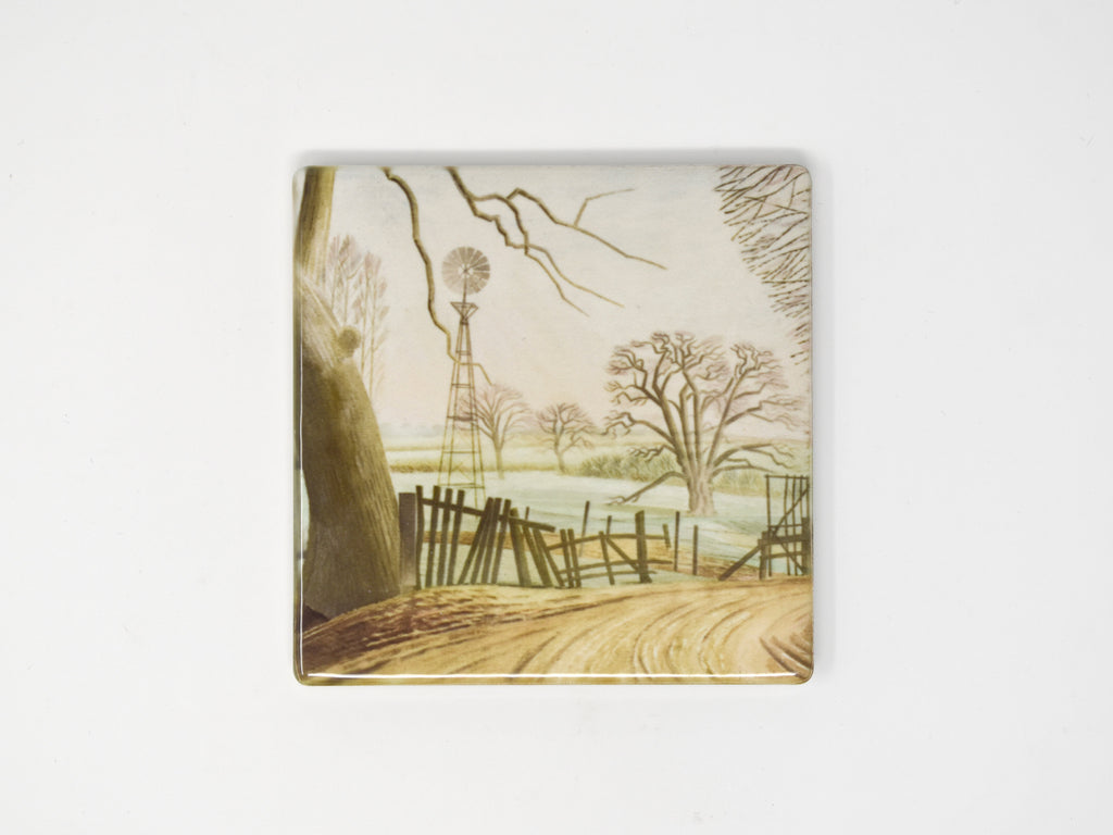 Eric Ravilious, Kirby Hall Fields - Ceramic Coaster