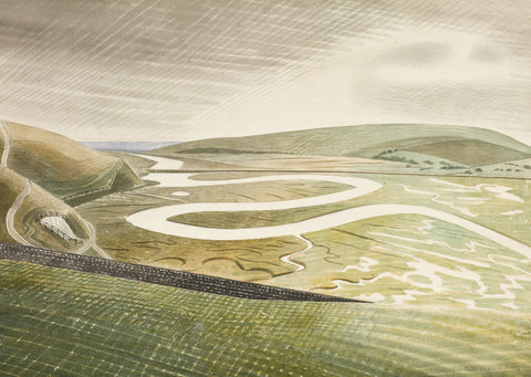 Eric Ravilious, Cuckmere Haven (1939) - Limited Edition Giclee Print