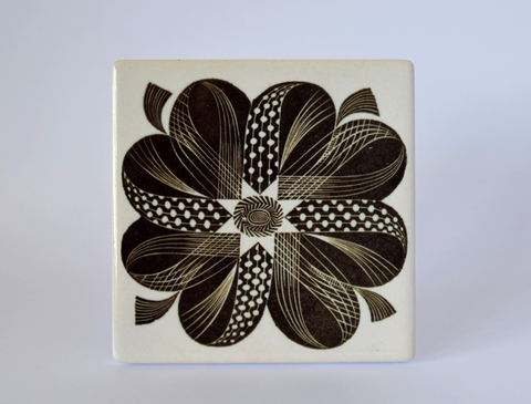 'Corsage' Ceramic Coaster - Design by Eric Ravilious