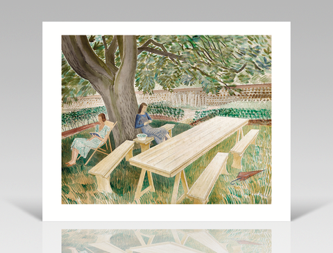 Eric Ravilious - Two Women in a Garden -Limited Edition Giclee Print