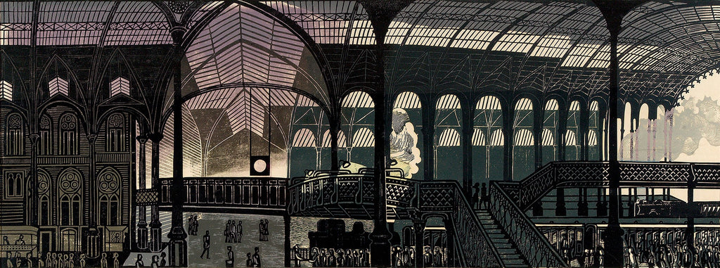 Bawden, Edward - Liverpool Street Station - Limited Edition Giclee Print