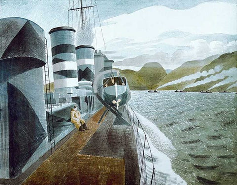 Eric Ravilious, Leaving Scapa Flow (1940) - Limited Edition Giclee Print
