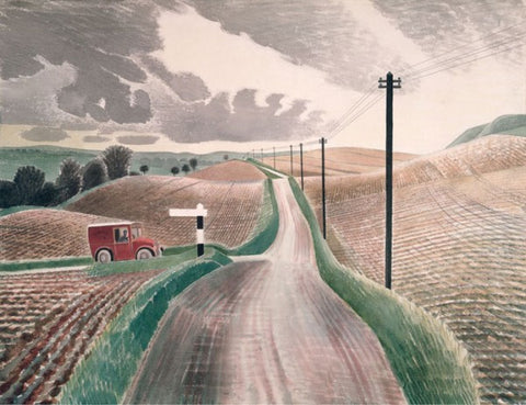 Eric Ravilious, Wiltshire Landscape (1937) -Limited Edition Giclee Print