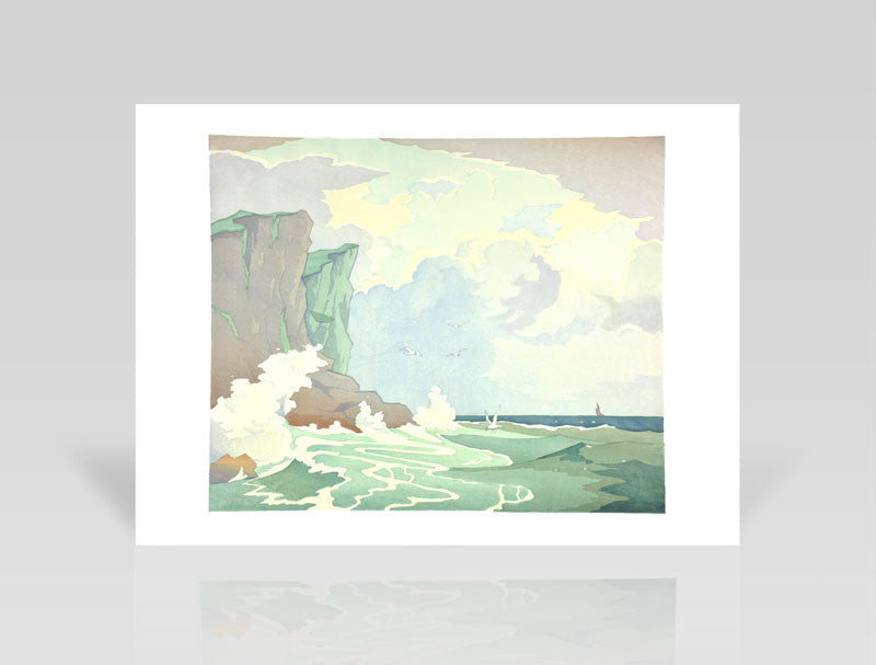 Eric Slater, Rough Seas (1929) - Limited Edition Giclee Print