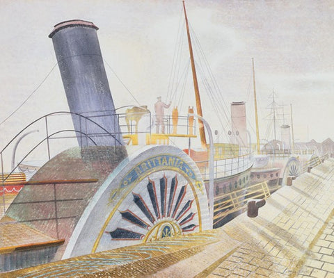 Eric Ravilious, Paddle Steamers, Bristol Quay (1938) - Limited Edition Giclee Print