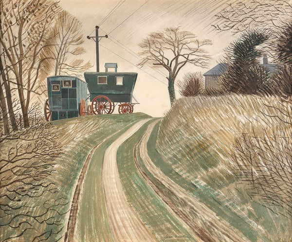 Limited Edition GiClee Print of Caravans by Eric Ravilious'