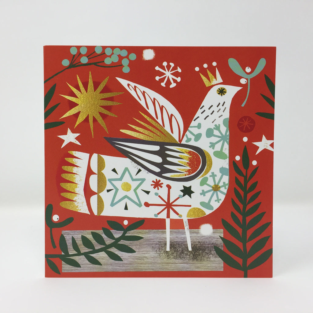 Gillian Martin Christmas Cards - Christmas Bird, 5 card pack