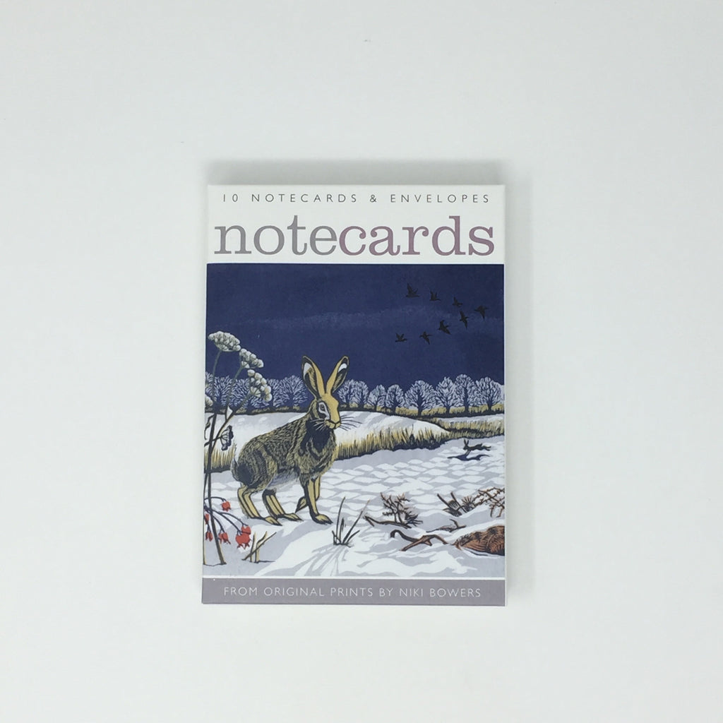 Niki Bowers Notecards - pack of 10 cards / 5 each, 2 designs NL93