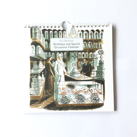 Eric Ravilious Birthdays & Special Occasions Perpetual Calendar