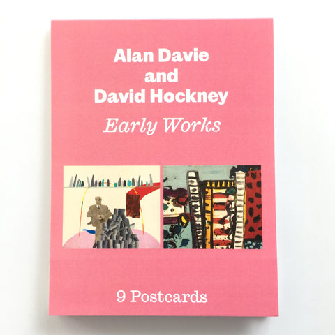 REDUCED to CLEAR -Alan Davie & David Hockney 'Early Works' - postcard set