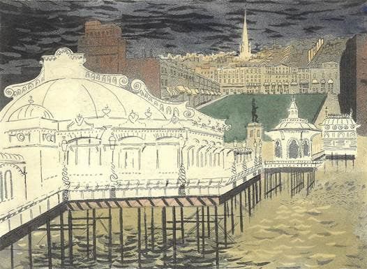 Piper, John - Regency Square From The West Pier - Limited edition giclee print