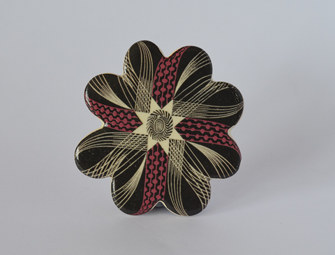 Corsage Ceramic Brooch (Pink), design by Eric Ravilious