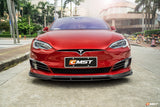 CMST Tesla Model S Carbon Fiber Upper Valences Valance Fog Light Surround