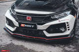 CMST Tuning Honda FK8 Civic Type-R (2017-ON) Carbon Fiber Front Lip Splitter