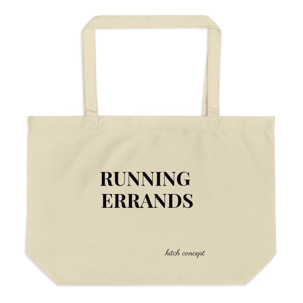 Running Errands organic tote bag