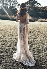 Load image into Gallery viewer, Boho Lace Maxi Dress in White - Babes & Boho