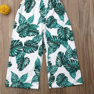 High Waist Wide Leg Printed Jumpsuit for Girls - Babes & Boho