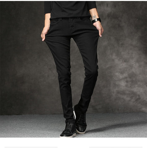 Men's Denim Skinny Jeans in Black - Babes & Boho