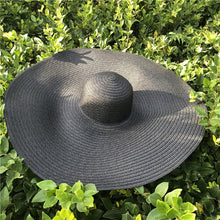 Load image into Gallery viewer, Wide Brimmed Straw Beach Hat in 3 Colors - Bold & Boho