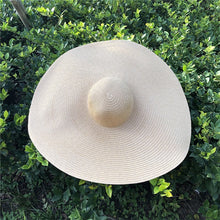 Load image into Gallery viewer, Wide Brimmed Straw Beach Hat in 3 Colors - Babes & Boho