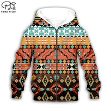 Load image into Gallery viewer, Kids Hoodie Tribal Pattern - Babes & Boho