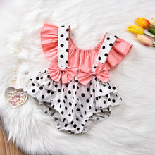 Load image into Gallery viewer, Polka Dot Suspender Shorts with Off Shoulder Top - Babes & Boho