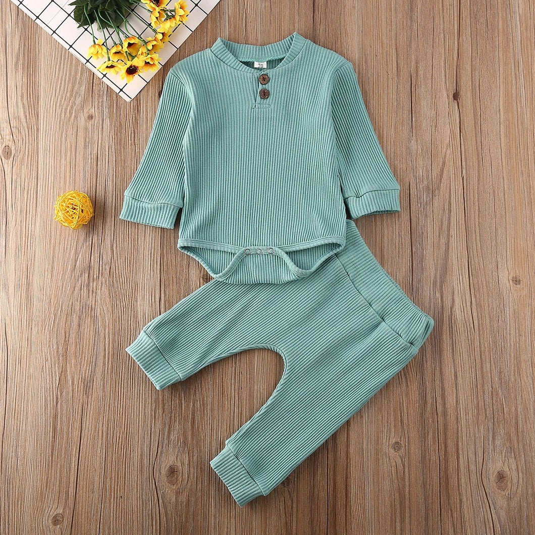 Ribbed Baby Jumpsuit Set - Babes & Boho