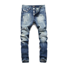 Load image into Gallery viewer, Men's Ripped Distressed Denim Jeans - Babes & Boho